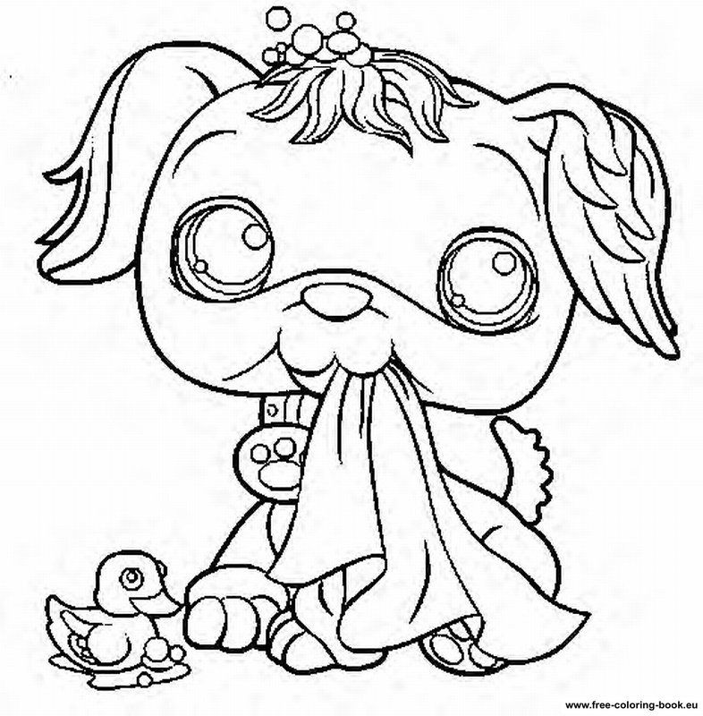 Coloring pages littlest pet shop coloring home for House pets coloring pages