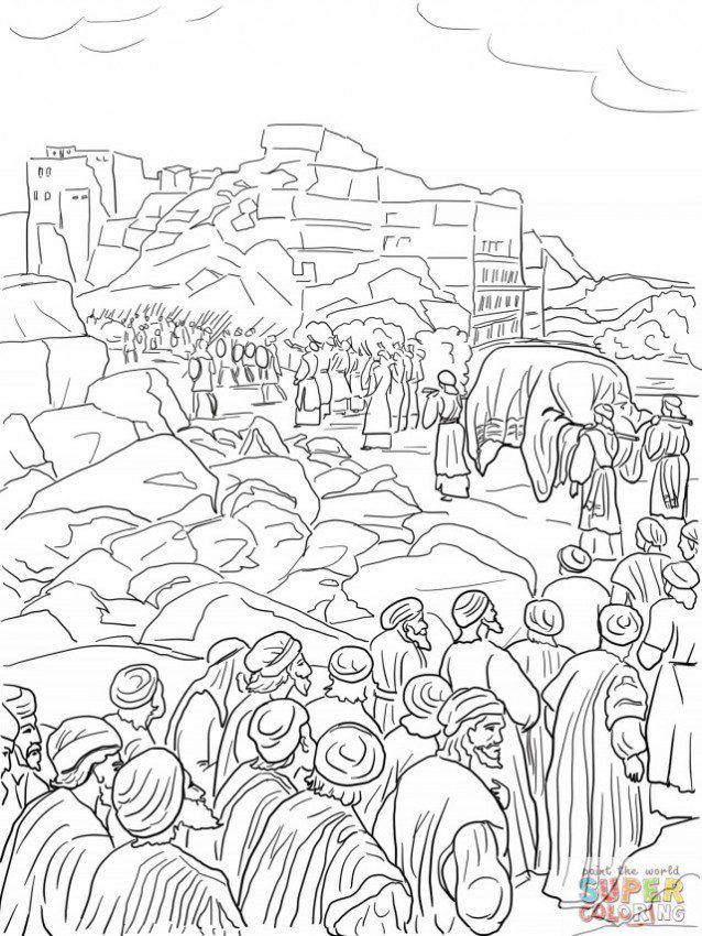 battle of jericho coloring pages - photo#16