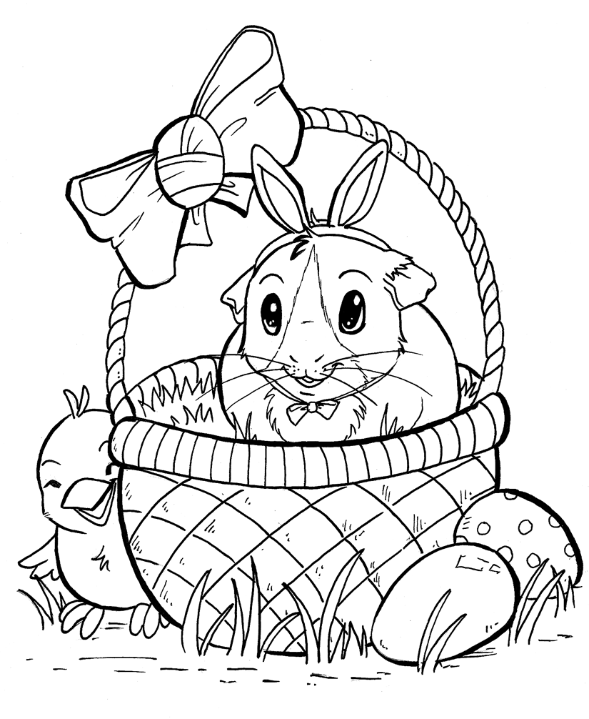 Guinea Pig Coloring Page High Quality Coloring Pages Coloring Home