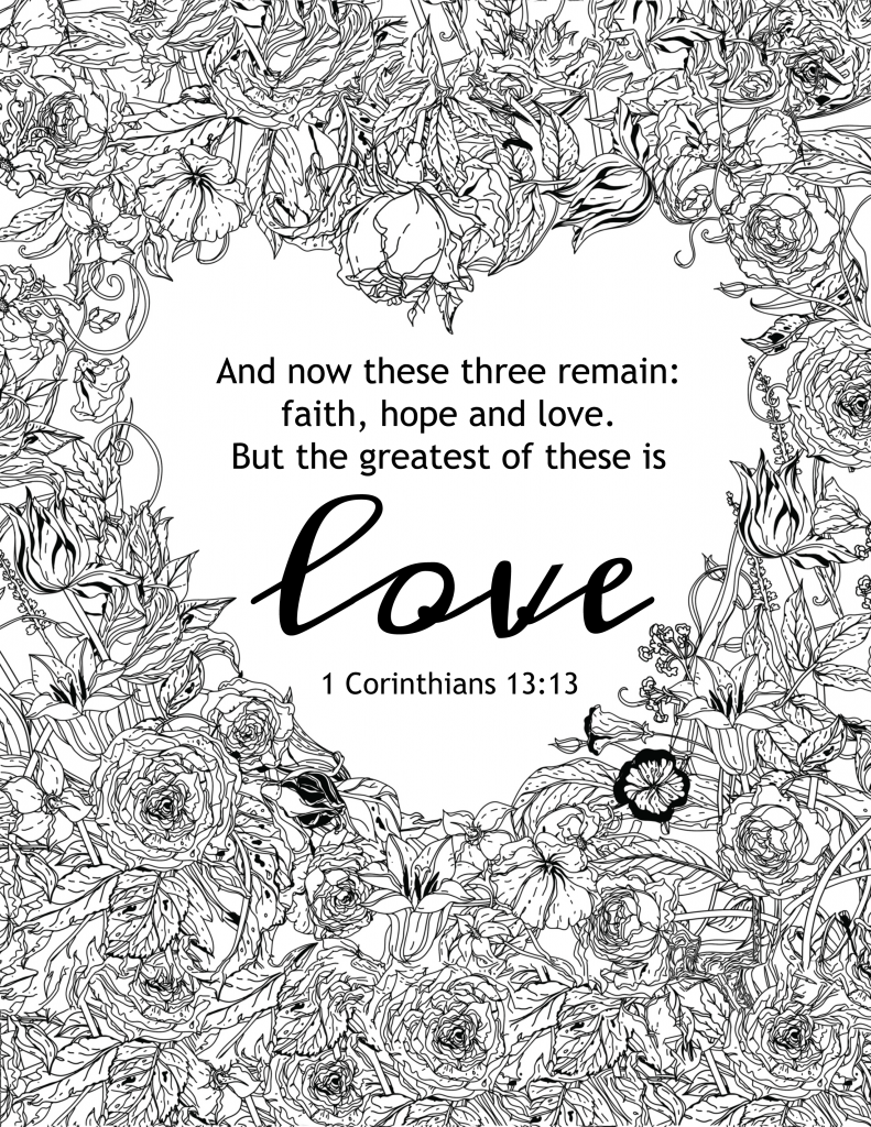 God is love coloring pages free az coloring pages