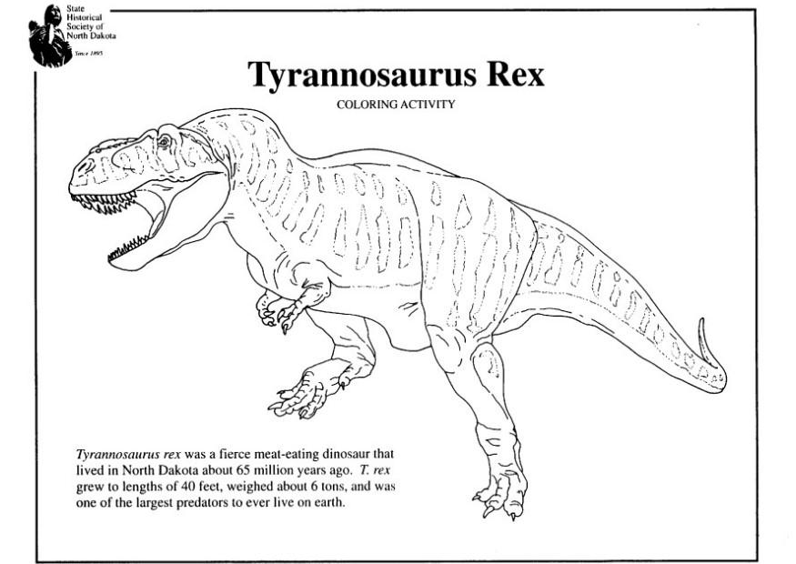 trex coloring page coloring pages for kids and for adults - T Rex Coloring Pages