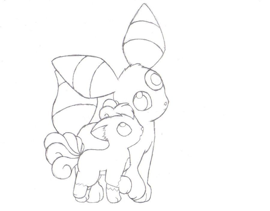 Umbreon Coloring Page Coloring Home