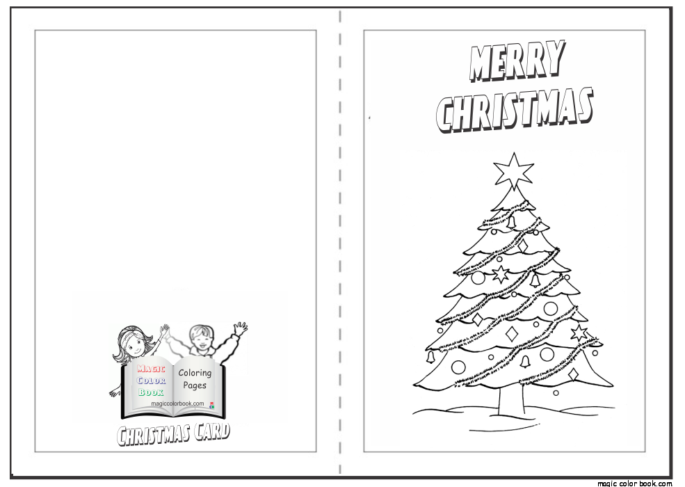 christmas card free coloring page 05