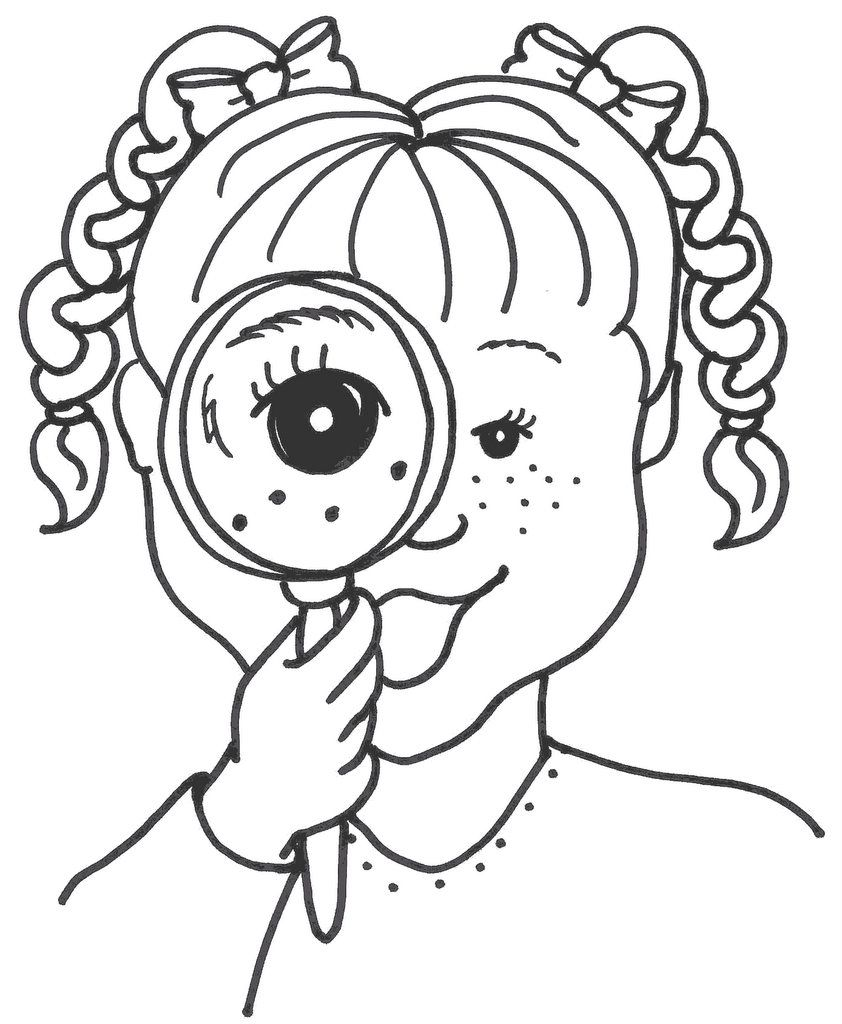 coloring pages for senses - photo#25