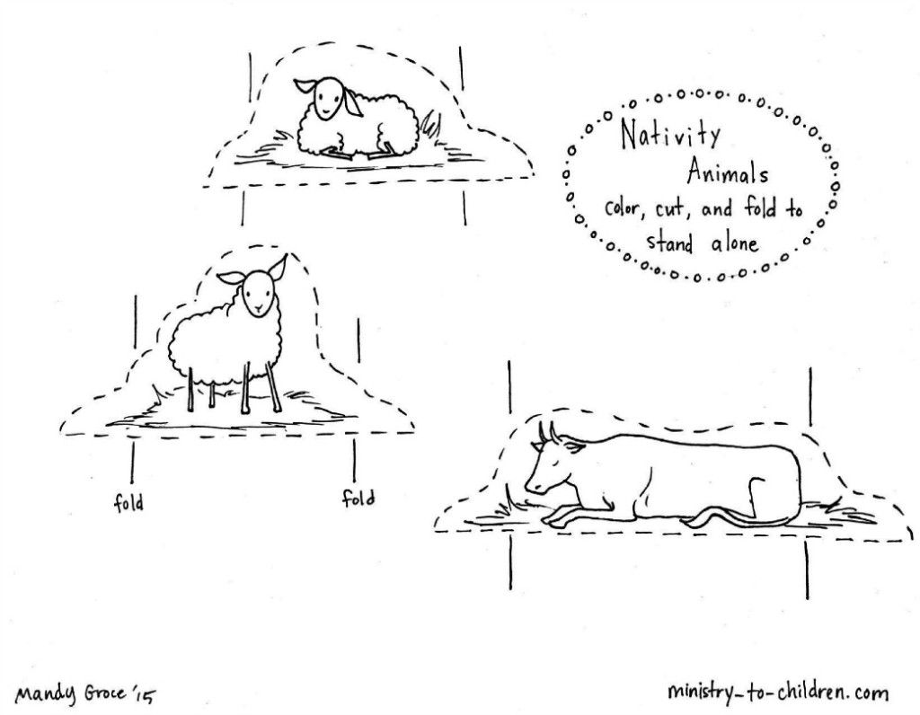 nativity animal coloring pages - photo#8