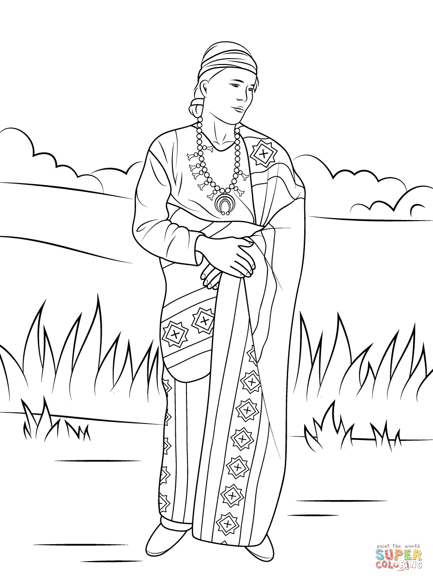 navajo indian coloring page free printable coloring pages