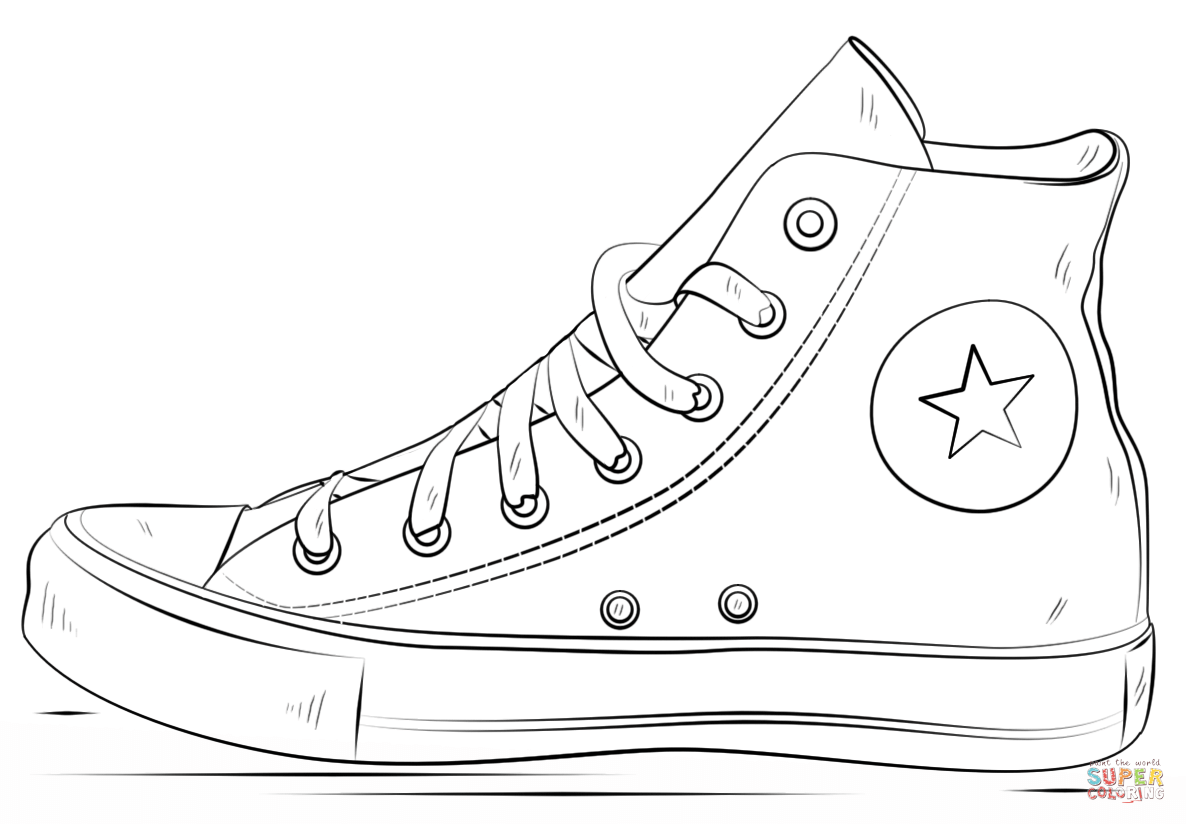 Converse Shoes coloring page | Free Printable Coloring Pages
