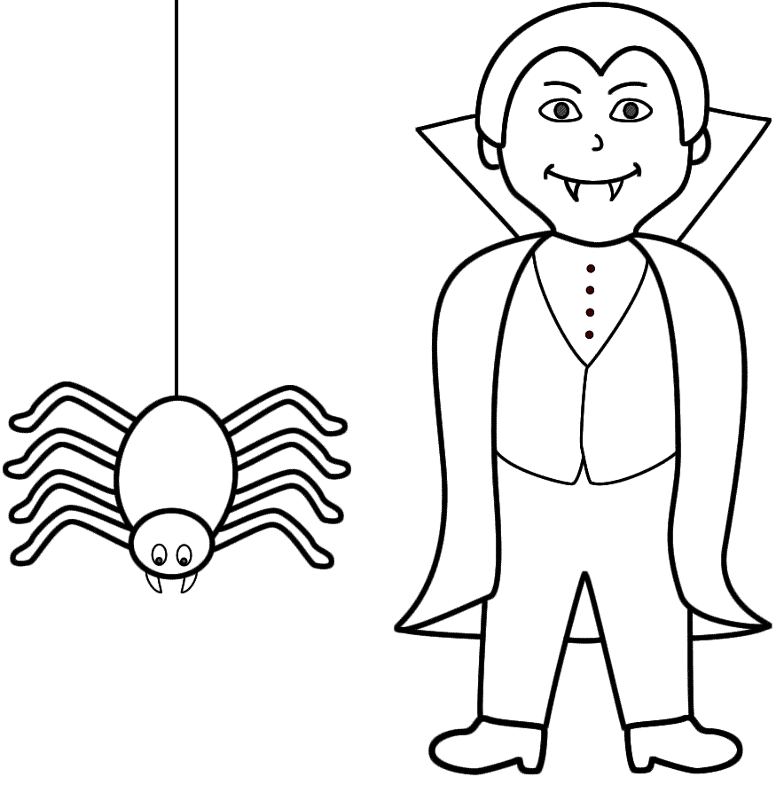 Vampire Coloring Page Coloring