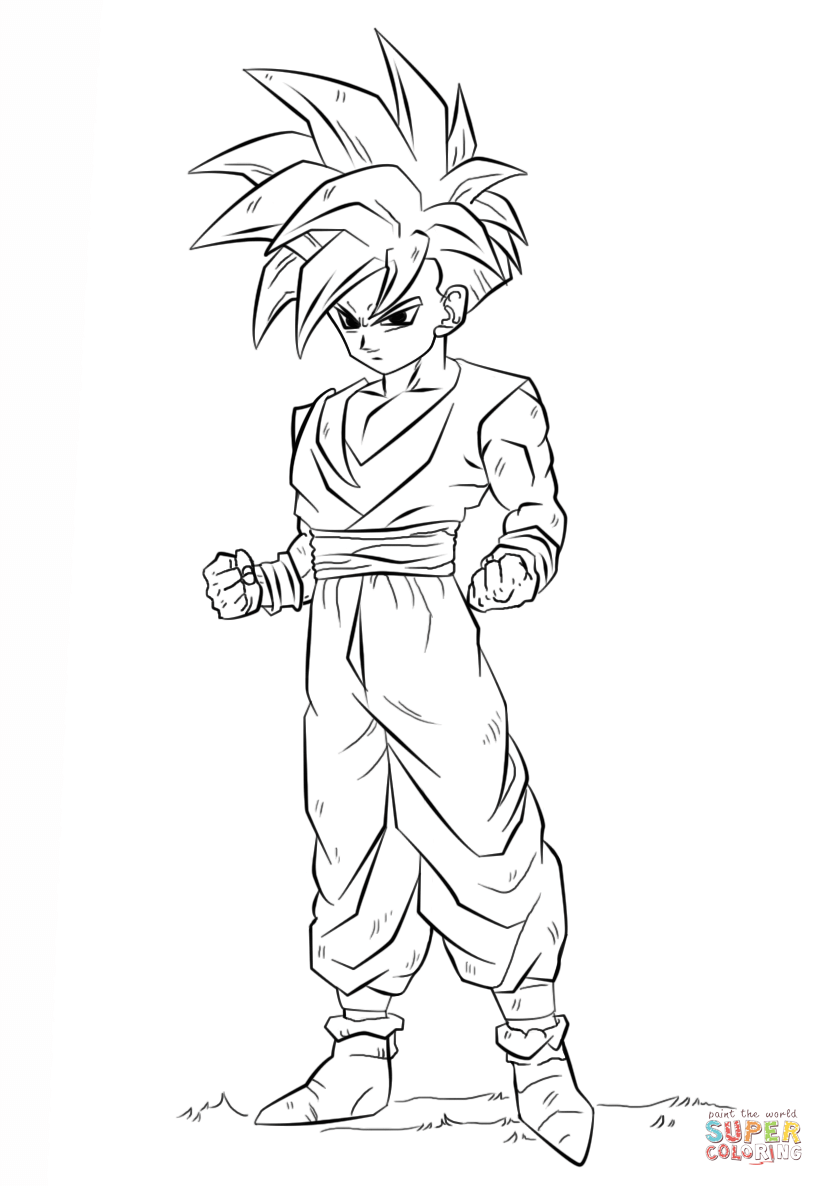 Kleurplaat Sonic Printen Dragon Ball Z Gohan Coloring Pages Coloring Home