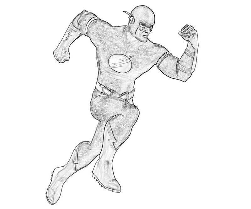 the flash coloring coloring pages for kids and for adults - The Flash Coloring Pages