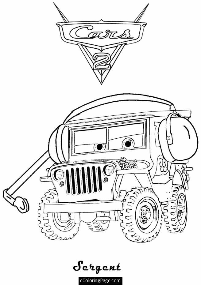 Printable Coloring Pages Of Cars The Movie Disney cars maze