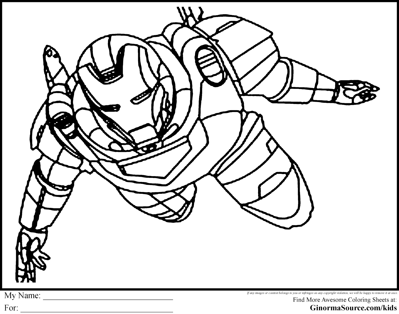 Printable Marvel Characters Coloring Pages