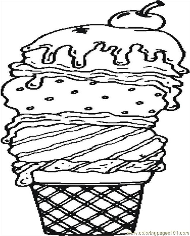 Ice Cream Coloring Pages Pdf : Other printable ice cream sundae coloring pages