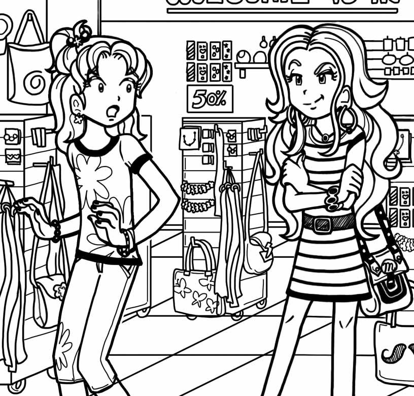 Dork Diaries Printable Coloring Pages - Coloring Home