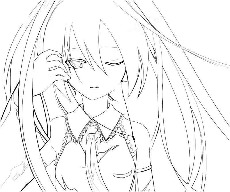 Miku Hatsune Coloring Pages Coloring Home
