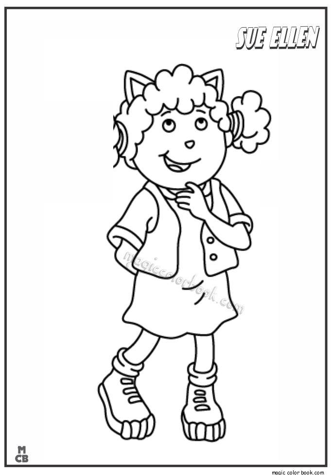 arthur thanksgiving coloring pages - photo#5