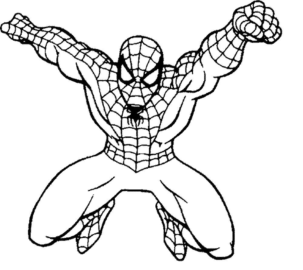 Раскраски а4 человек паук