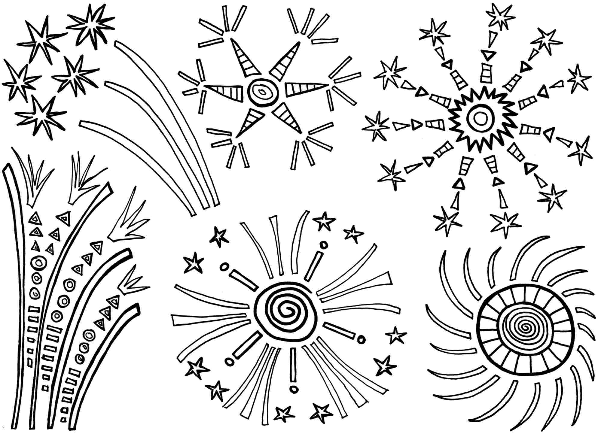 Preschool coloring games online free - Free Printable Fireworks Coloring Pages For Kids