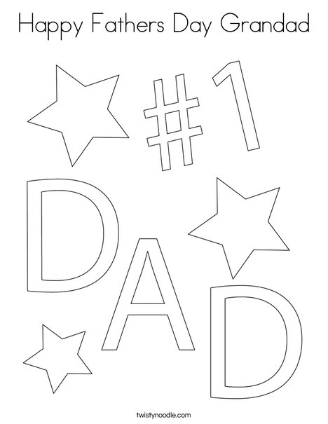 Happy Fathers Day Grandad Coloring Page ...twistynoodle.com