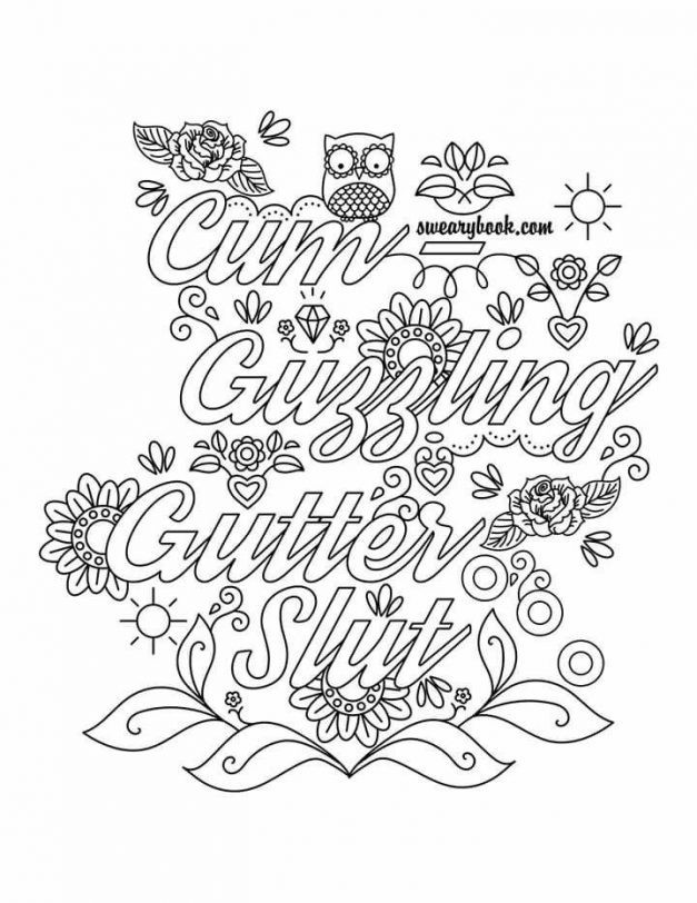 Swear Coloring Pages - Coloring Home