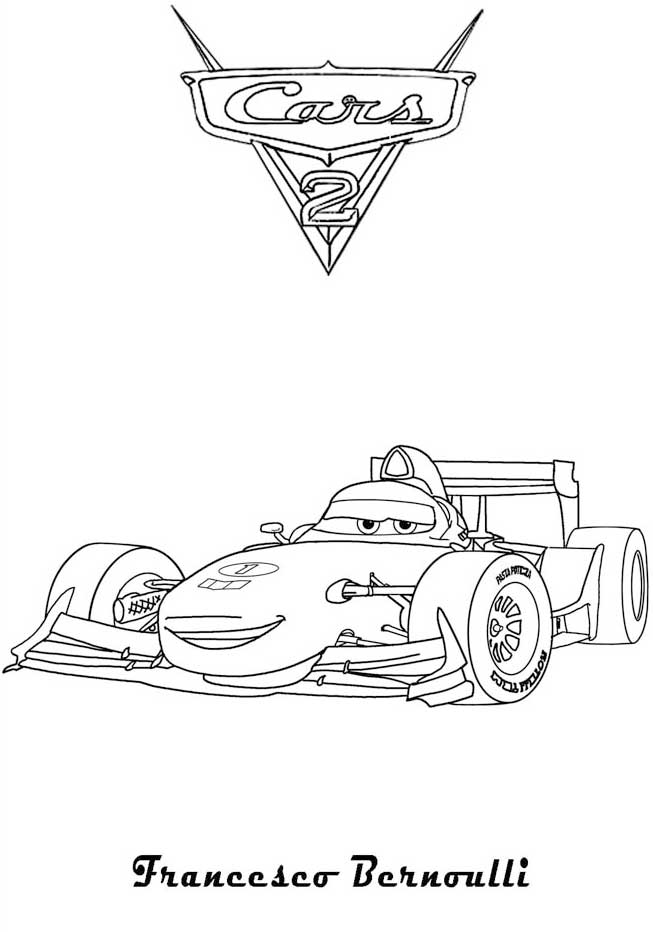 8 Pics of Francesco From Cars Coloring Pages - Francesco Bernoulli ...