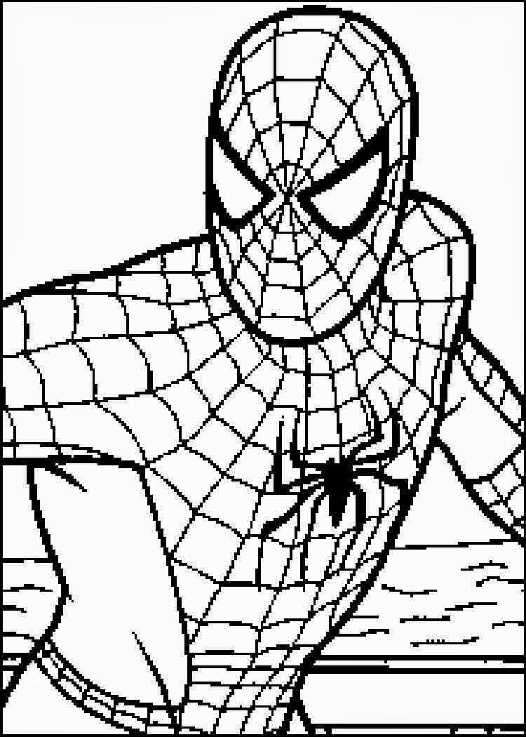 Print Free Coloring Pages Spiderman - Coloring Home
