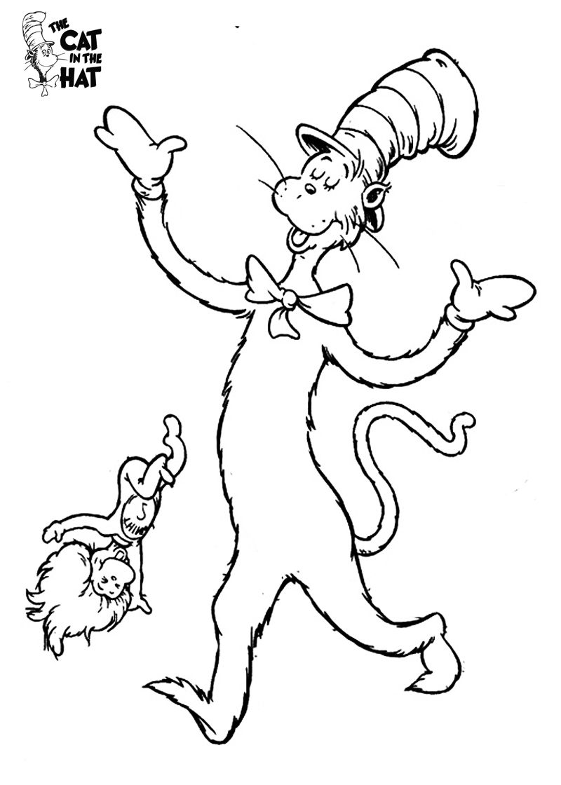 Thing one coloring pages az coloring pages for Thing 1 and thing 2 coloring pages dr seuss