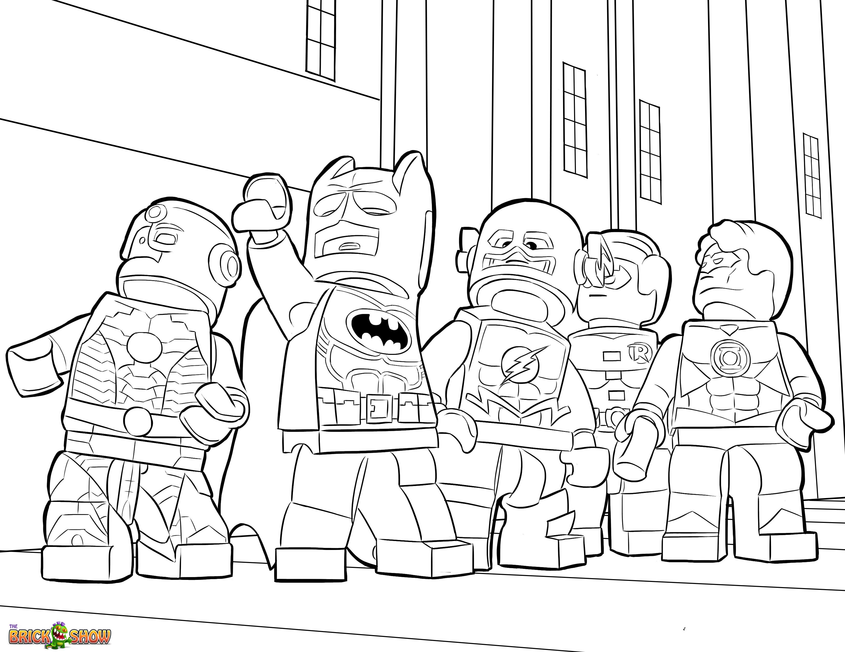Lego Superheros Coloring Pages Coloring Home