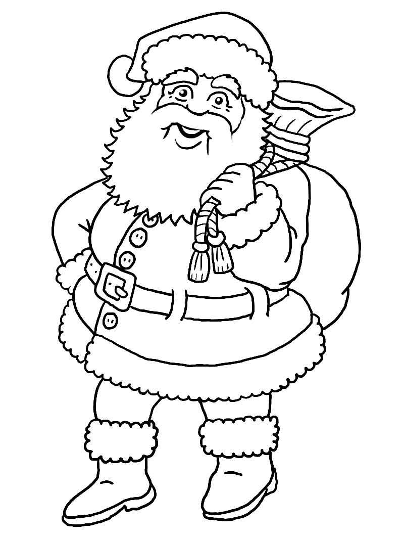 Santa Claus Sketch - Coloring Home