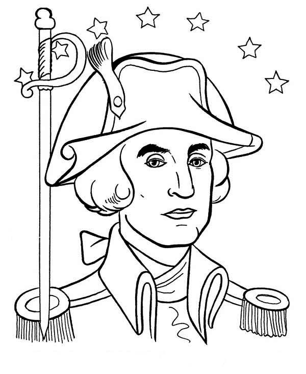 george washington coloring pages coloring home. Black Bedroom Furniture Sets. Home Design Ideas
