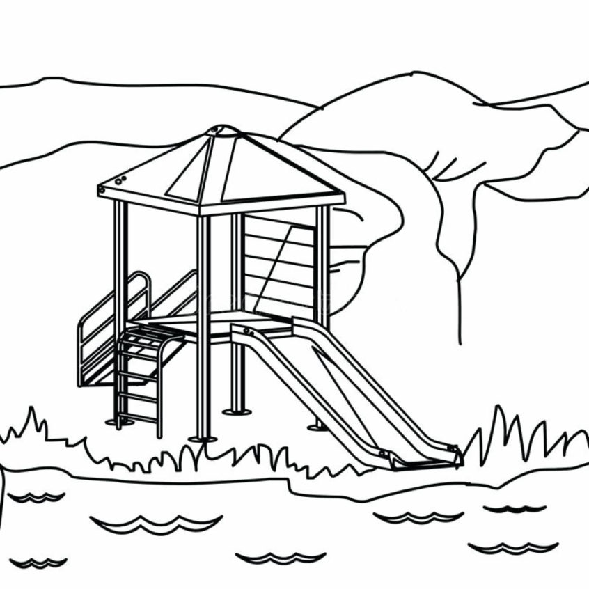 Playground Coloring Pages - Coloring Home