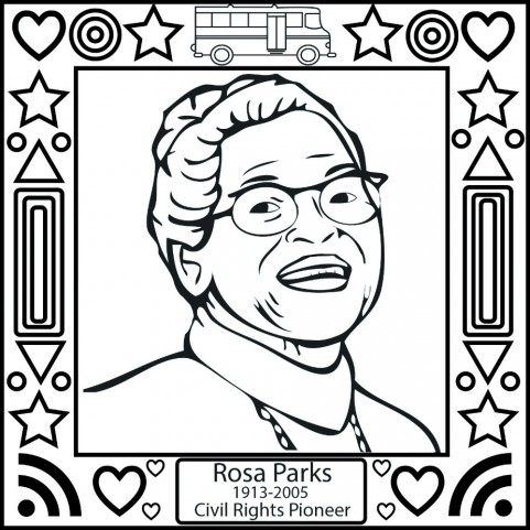 Rosa Parks Coloring Page Coloring Book of Coloring Page