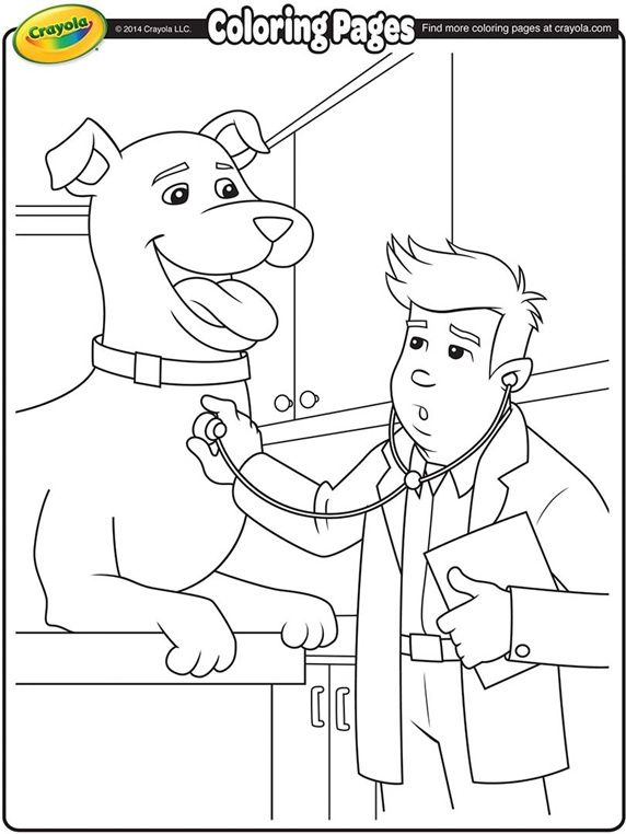 Veterinarian Coloring Pages For Kids