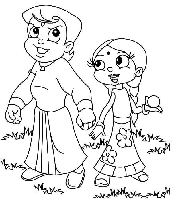 chota bheem team coloring pages - photo#8