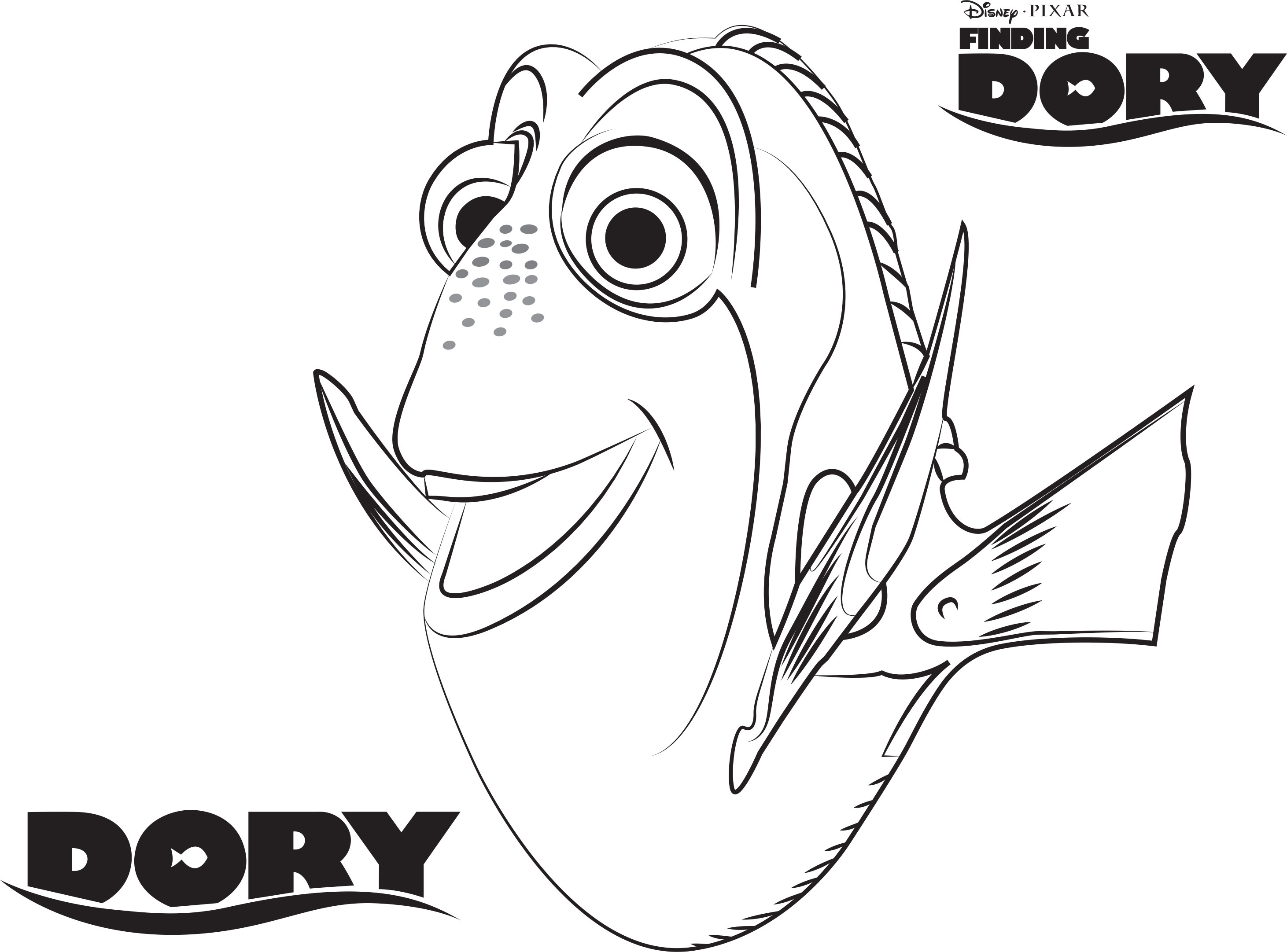 Finding Dory Coloring Pages Coloring Home