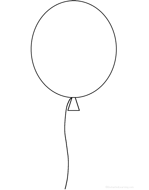 image relating to Balloon Template Printable named Printable Balloon Template - Coloring Dwelling