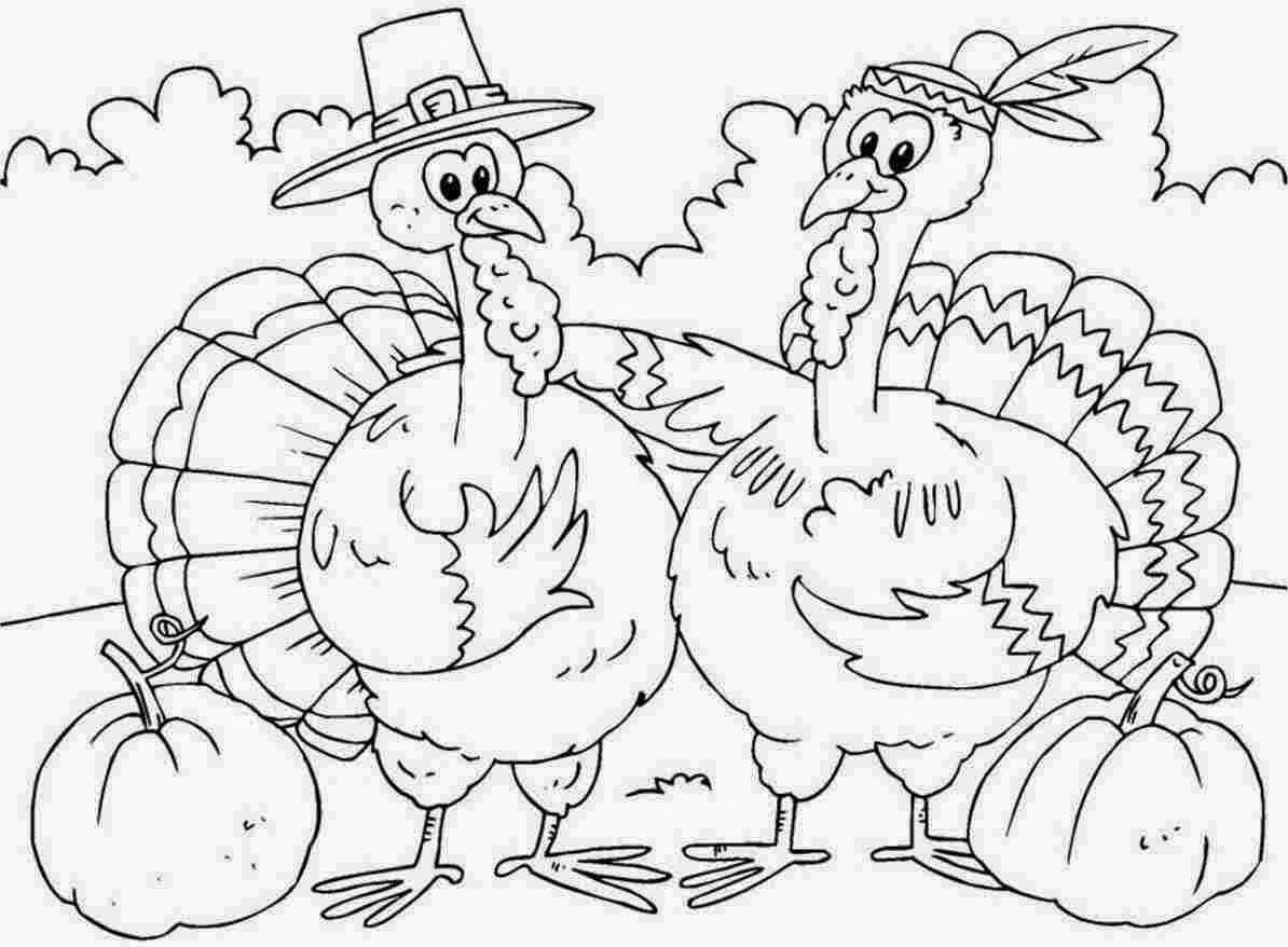 Turkey Coloring Page (20 Pictures) - Colorine.net | 19216