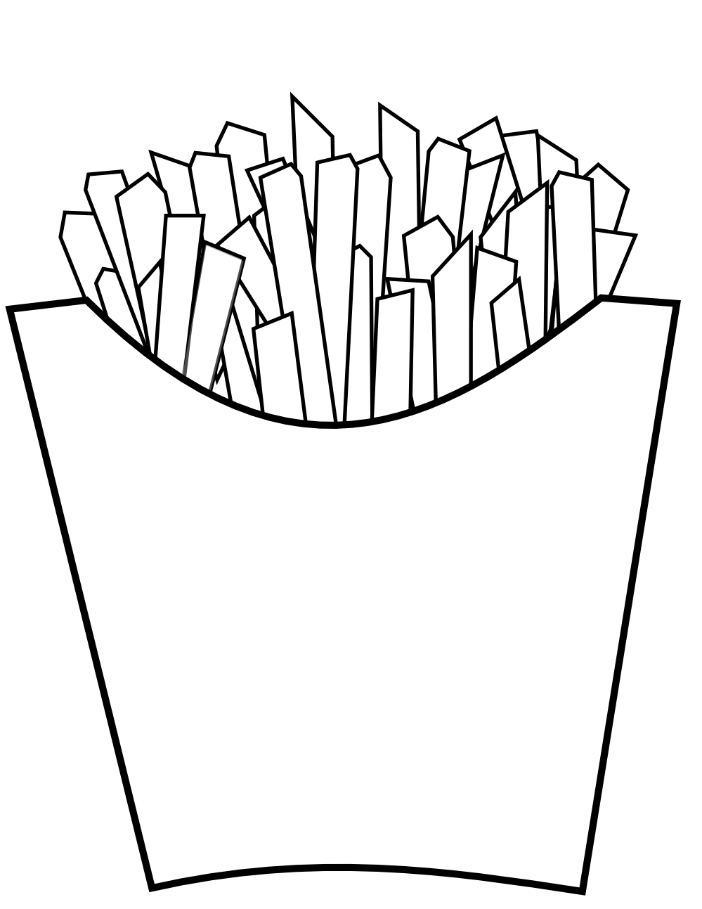 french fries Coloring Book Colouring Sheet Coloring Book Colouring ...