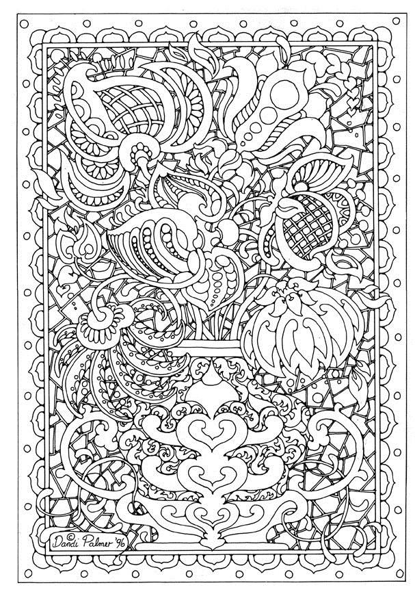 hard coloring pages for free - photo#9
