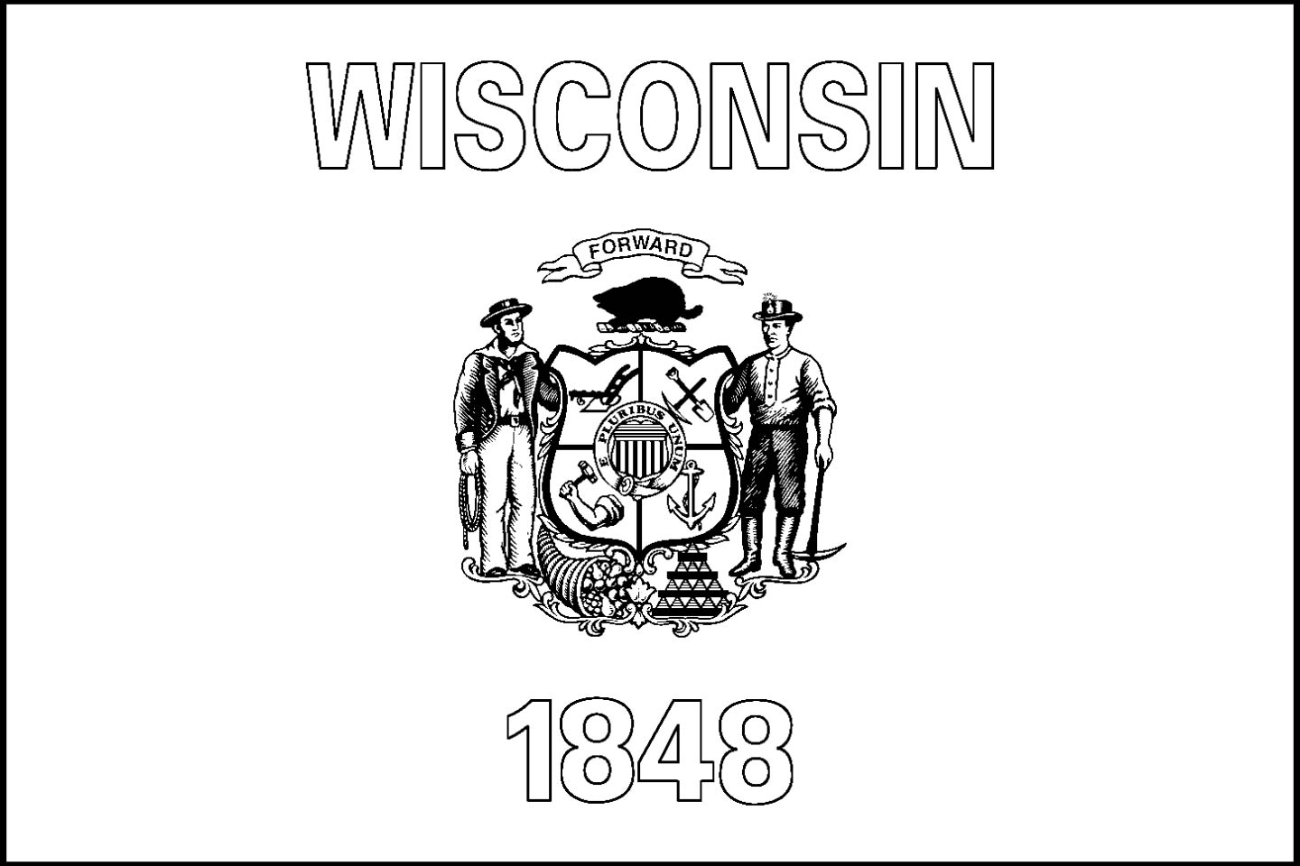 Wisconsin State Coloring Page Sketch Coloring Page