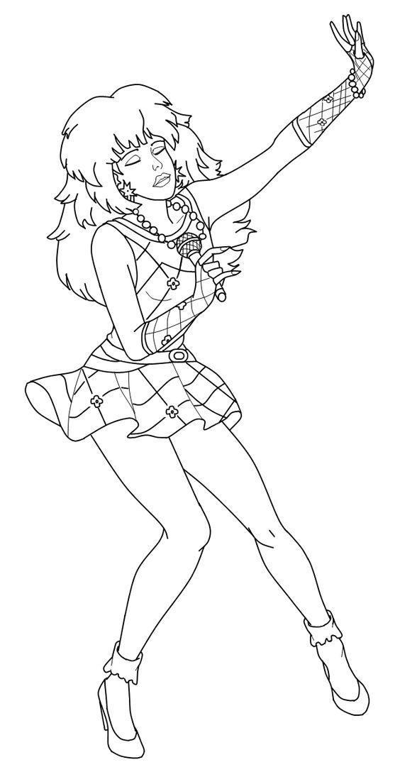 free 80s coloring pages | Jem And The Holograms Coloring Pages - Coloring Home