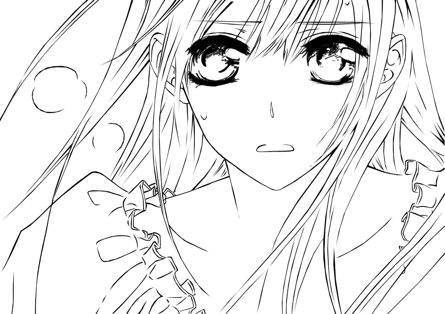anime vampire knight coloring pages - photo#40