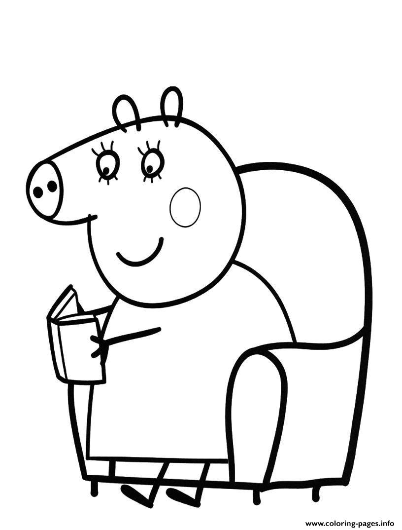 print peppa pig colouring pages kids printable coloring pages - Colouring Sheets For Kids