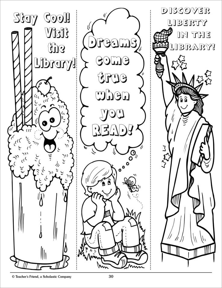 Reading Bookmark Coloring Pages Coloring Home
