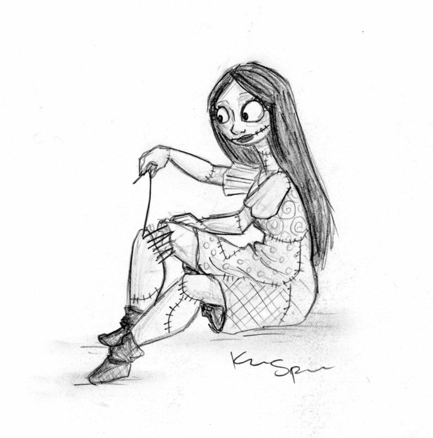 Sally Nightmare Before Christmas Coloring Pages - High Quality ...