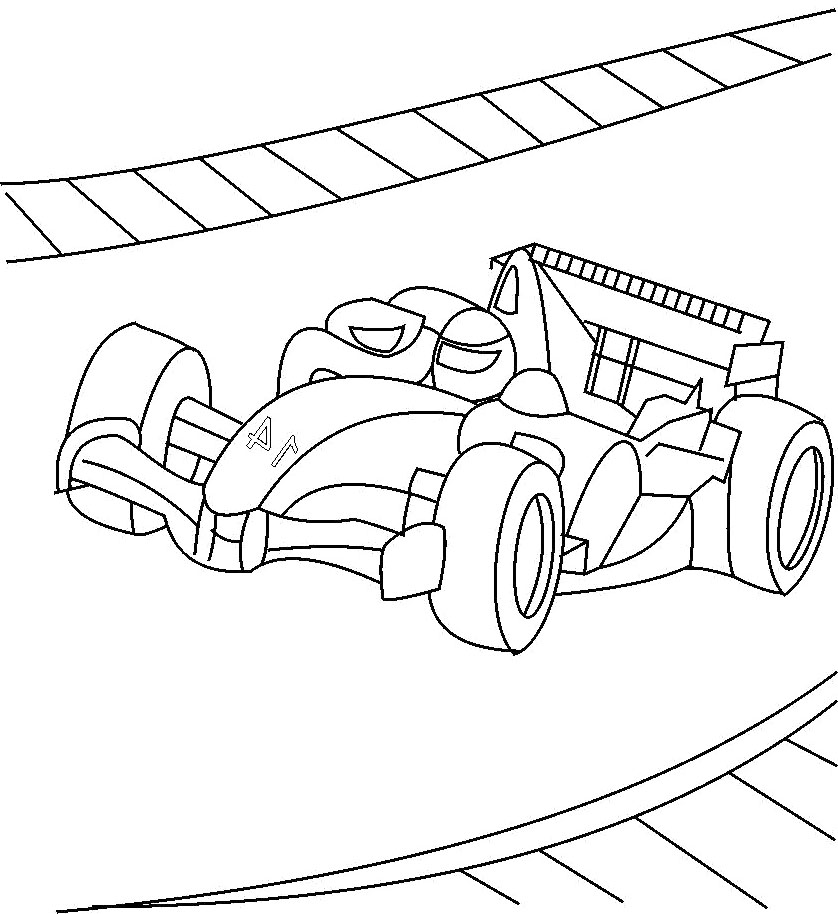 free coloring pages of race track course