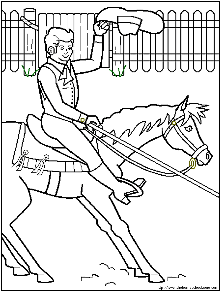 Coloring Pictures Of Horses Barrel Racing : Barrel Free Colouring Pages