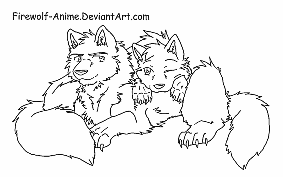 Anime Wolf Coloring Pages Coloring