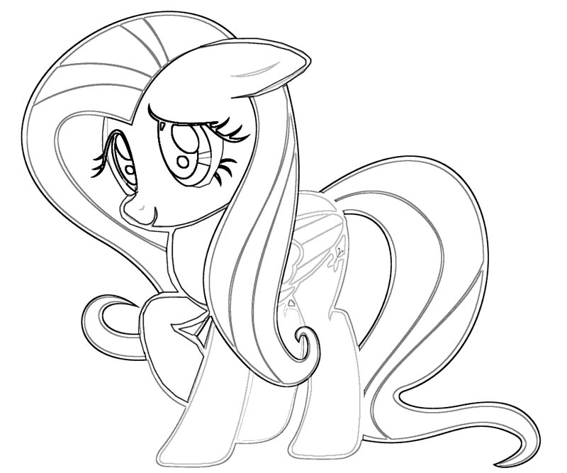 fluttershy coloring pages - my little pony fluttershy coloring pages coloring home