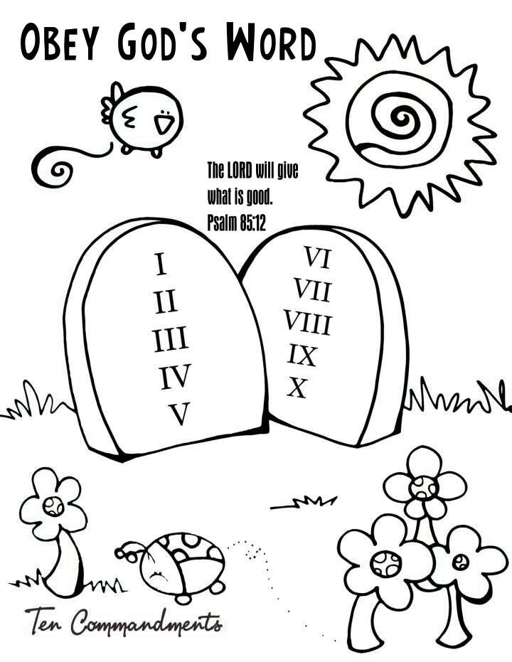 10 Commandments Coloring Page Coloring Home